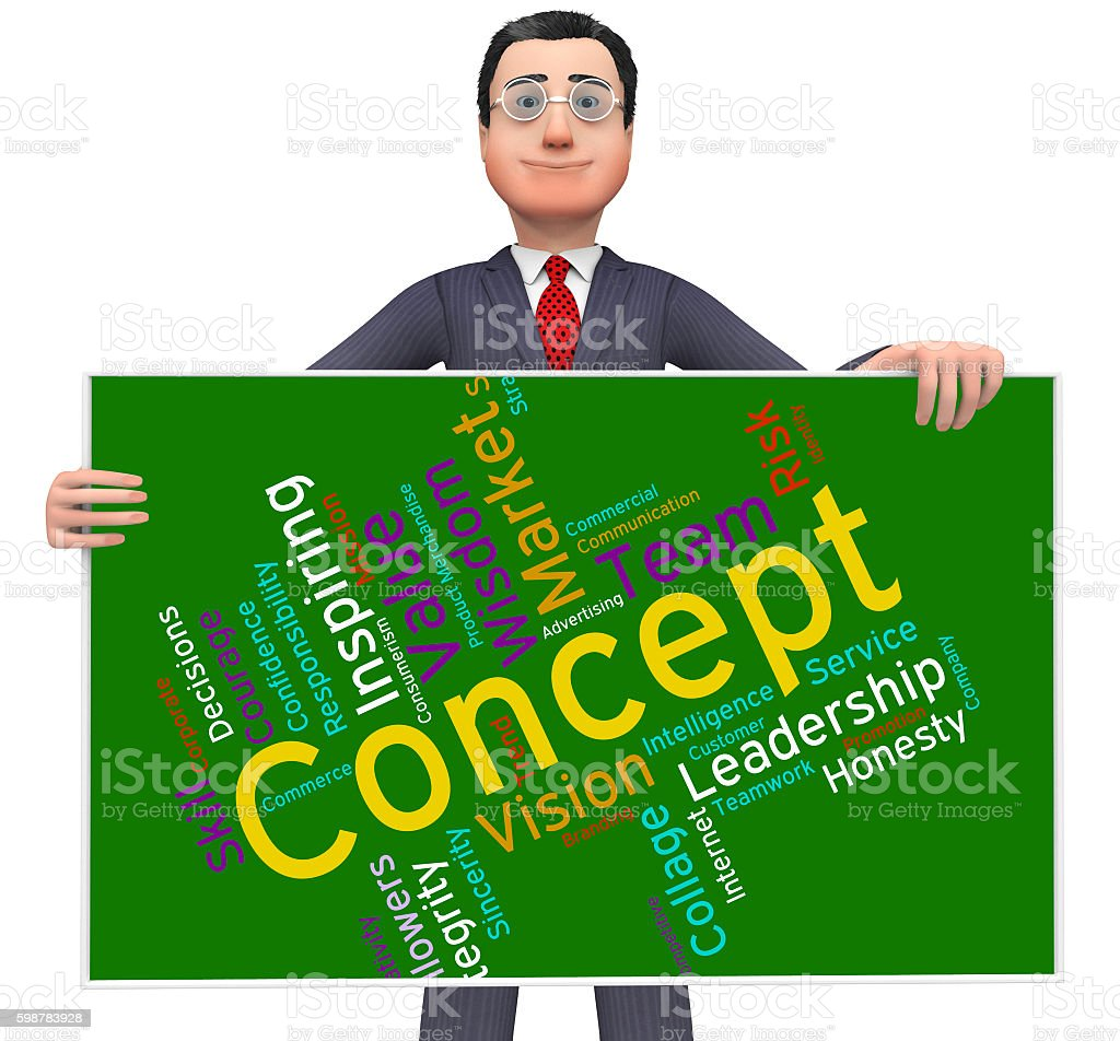 Concept Word Means Abstraction Thinking And Invention stock photo