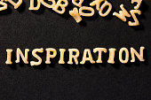 INSPIRATION Concept , Word with Alphabet Pasta letters