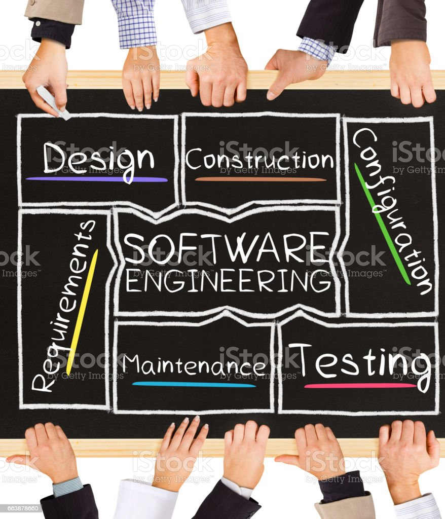 SOFTWARE ENGINEERING concept words stock photo
