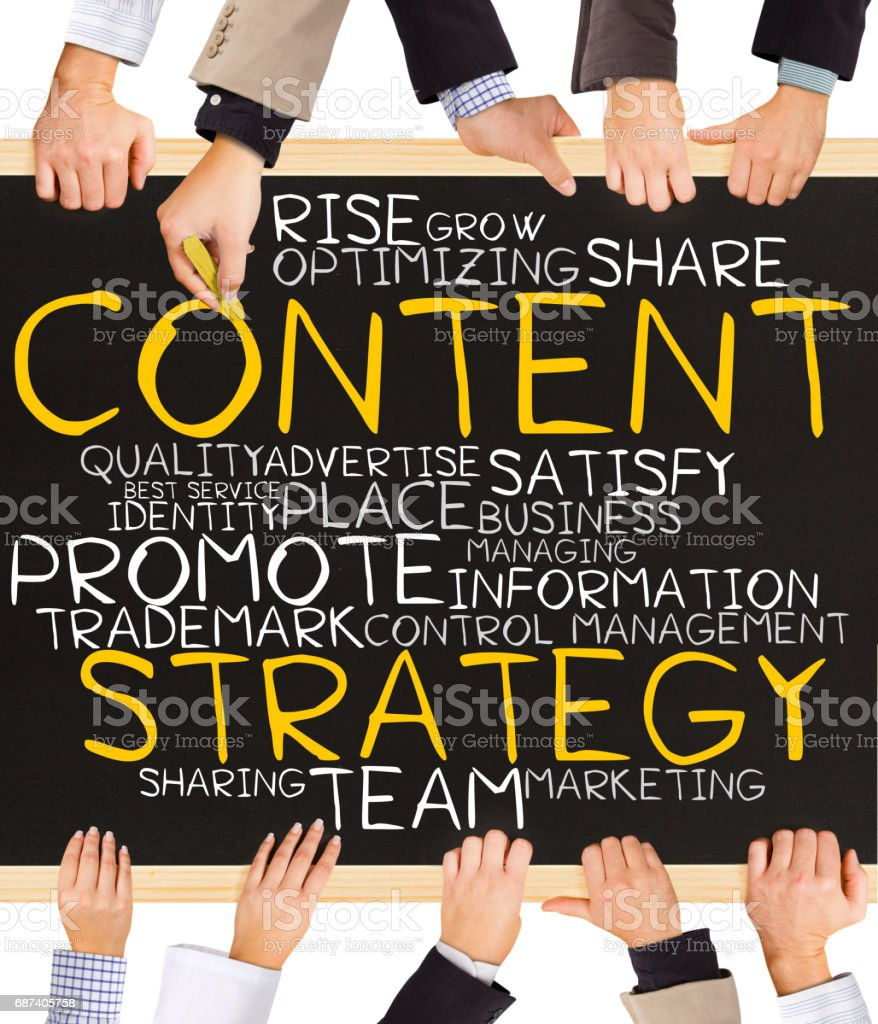 CONTENT STRATEGY concept words stock photo