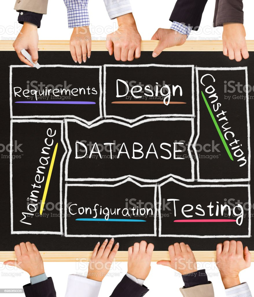 DATABASE concept words stock photo