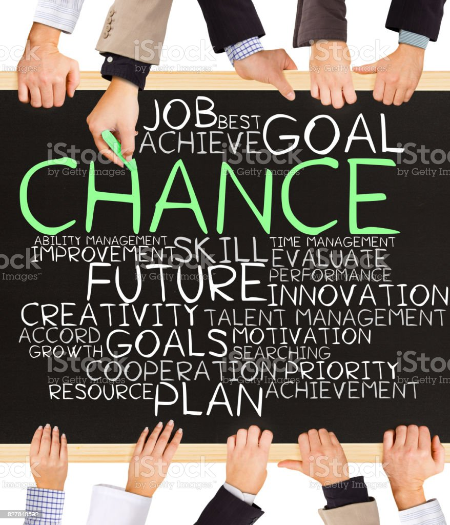 CHANCE concept words stock photo