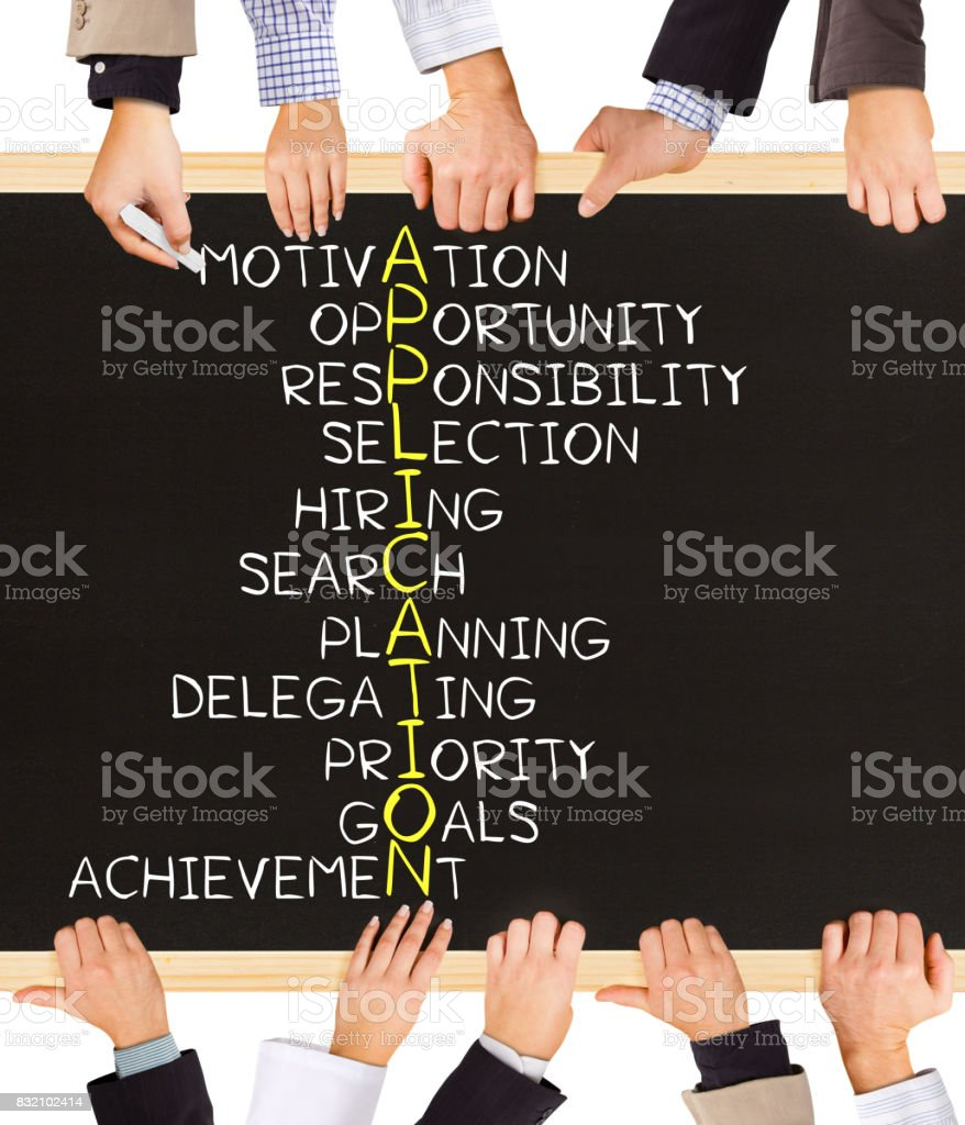 APPLICATION concept words stock photo