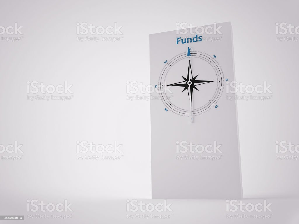 Conceptual 3D Compass stock photo