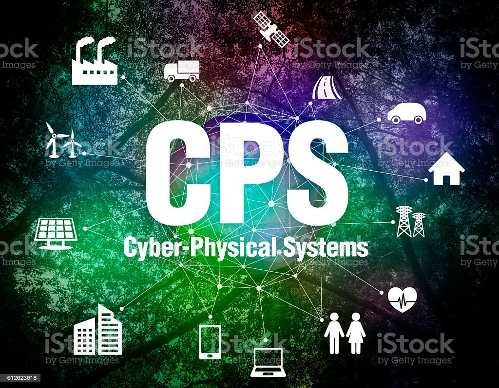 CPS(Cyber-Physical Systems) conceptual abstract image visual stock photo
