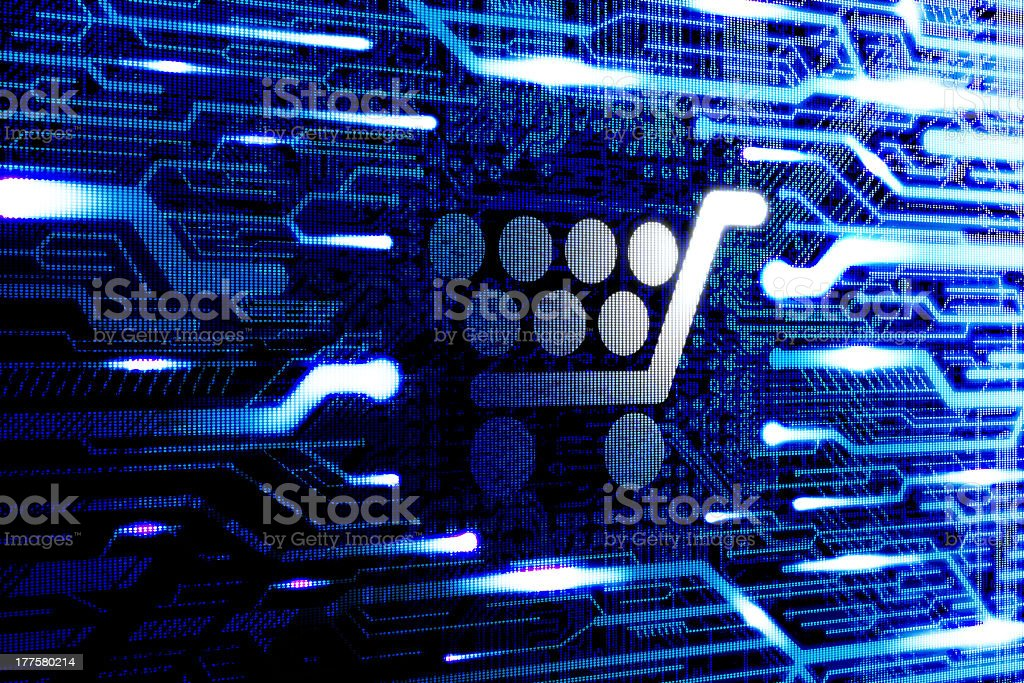 Conceptual background representing online shopping royalty-free stock photo