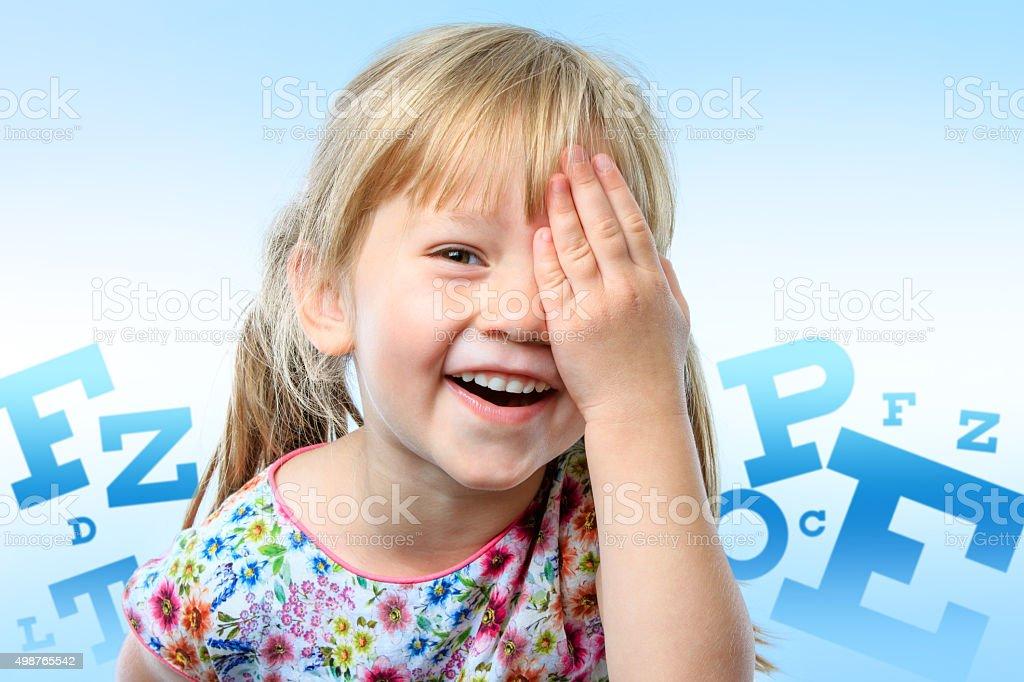 Conceptuelles enfants test de vision. photo libre de droits