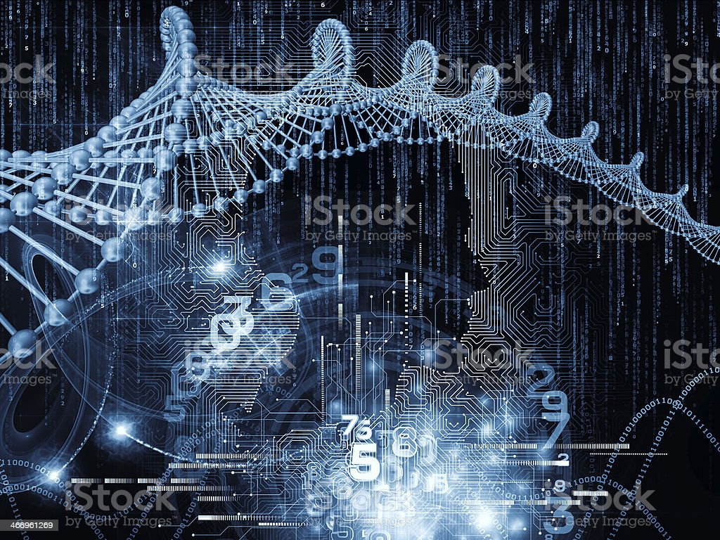 Conceptual Circuit Intelligence stock photo