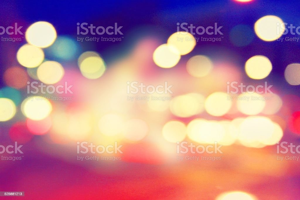 Conceptual City Lights stock photo