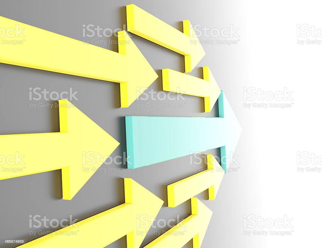 Conceptual composite arrow royalty-free stock photo