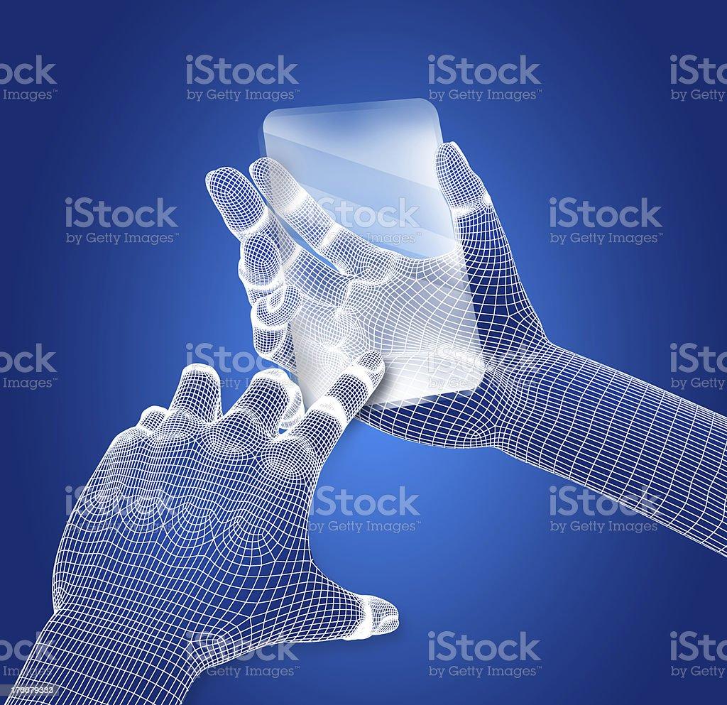 Conceptual design of a transparent mobile phone stock photo
