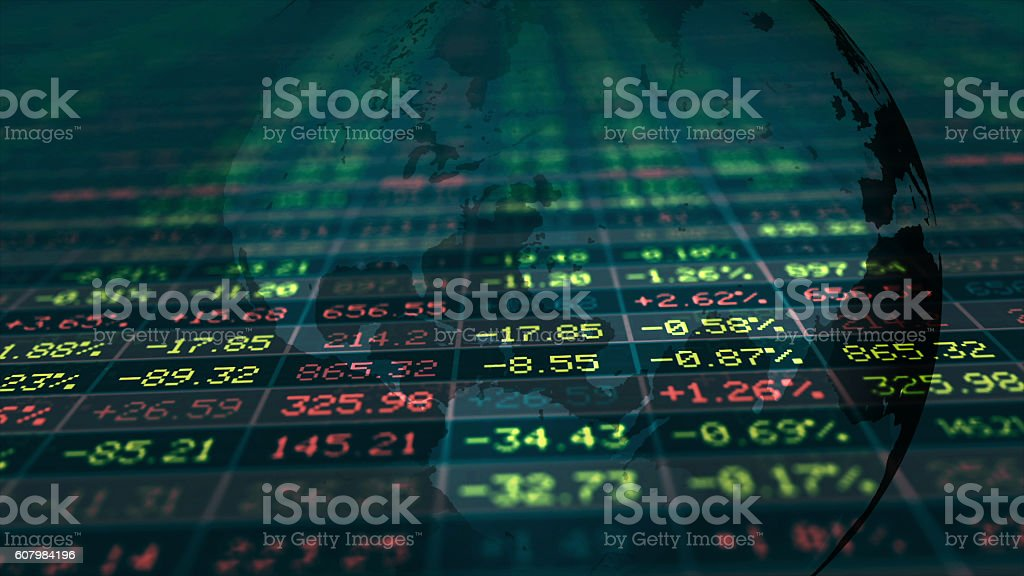 Conceptual Display of Stock market stock photo