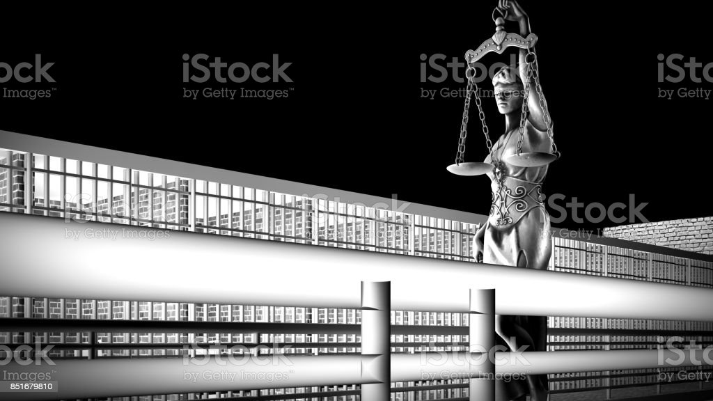 Conceptual example on existence in prison 3d rendering stock photo