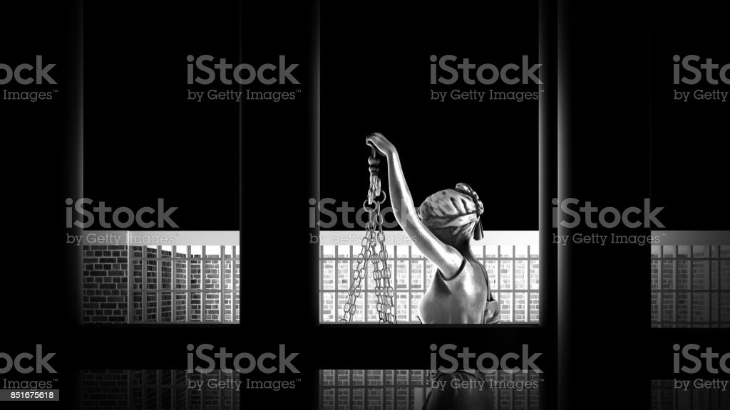 Conceptual example on life in prison 3d rendering stock photo