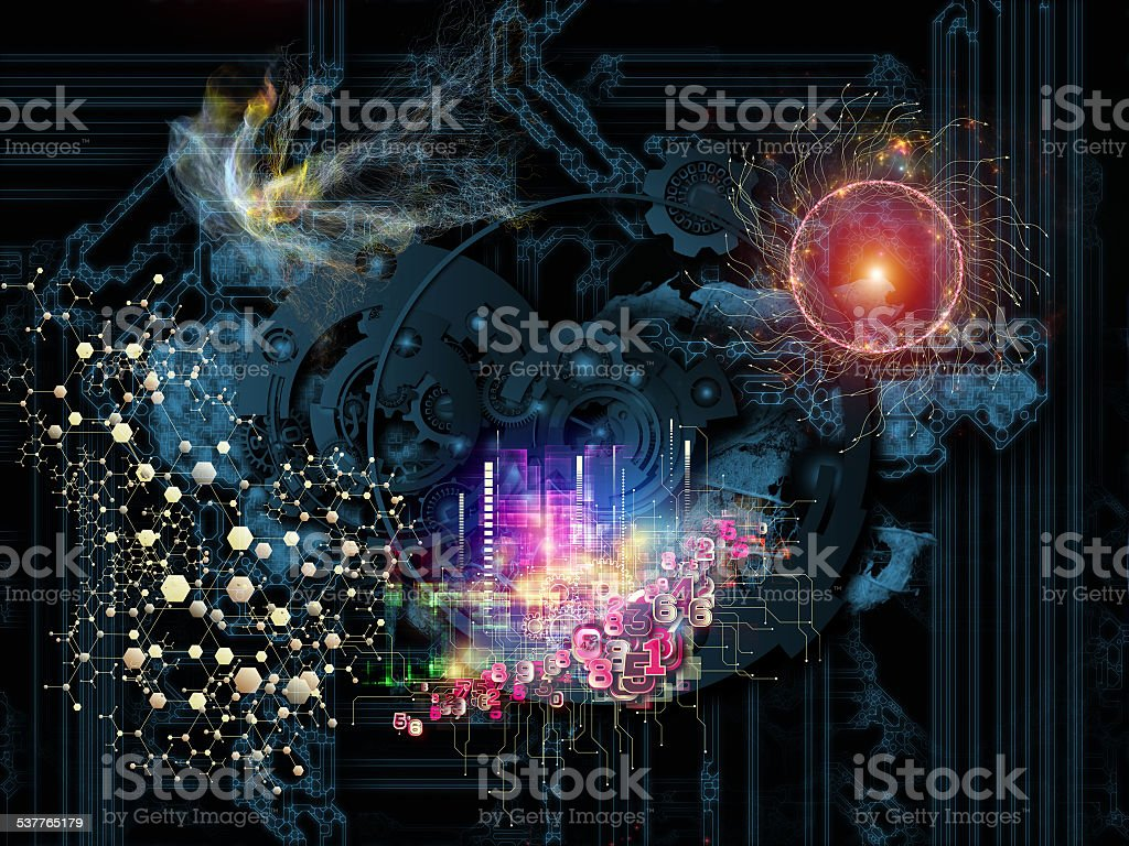 Conceptual Gears stock photo