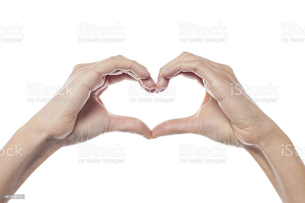 Conceptual heart shape stock photo