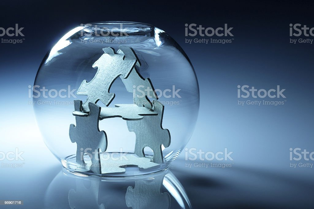 Conceptual home from puzzle royalty-free stock photo