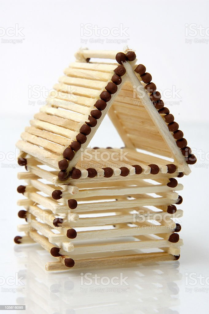 Conceptual House from Matches royalty-free stock photo