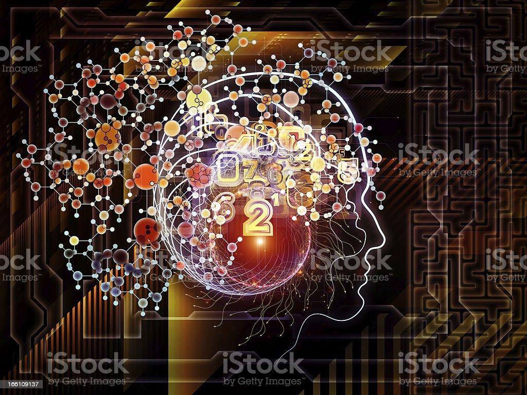 Conceptual Human Technology royalty-free stock photo