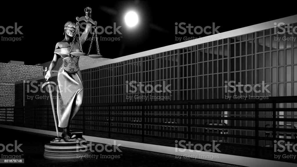 Conceptual illustration on daily life in prison stock photo
