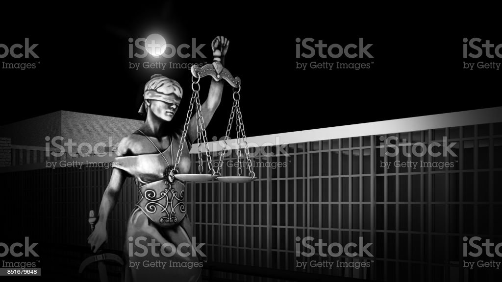 Conceptual illustration on life in prison 3d rendering stock photo