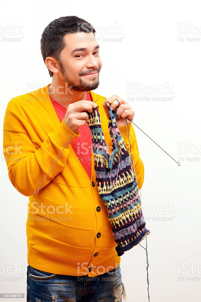 Conceptual image of a pregnant man stock photo