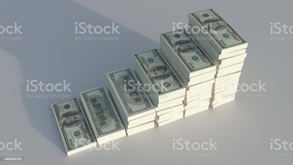 image conceptuelle de dollars photo libre de droits