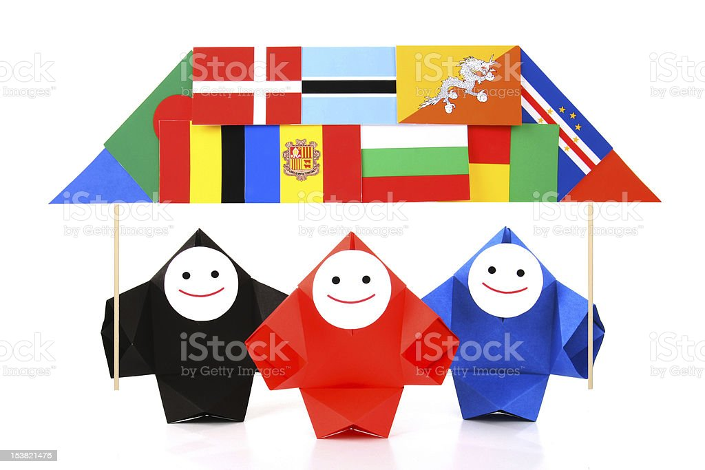 Conceptual image of international relations and cooperation royalty-free stock photo
