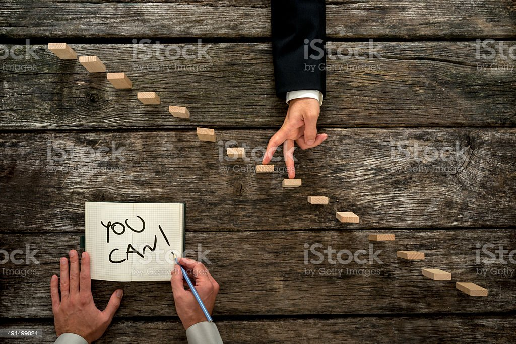 Conceptual image of personal growth and career development stock photo