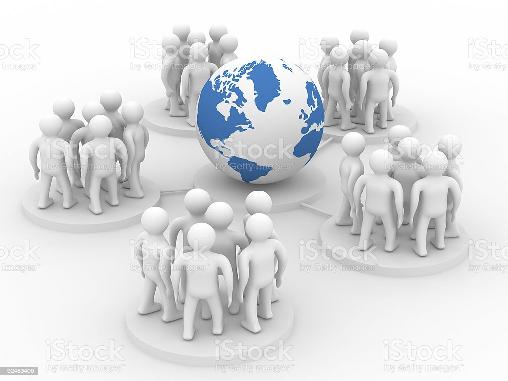 Conceptual image of teamwork. Isolated 3D image. royalty-free stock photo