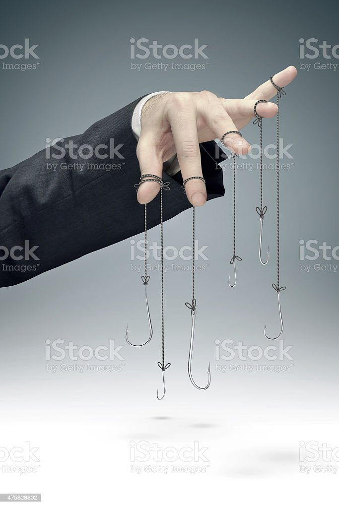 conceptual image of the corporate manipulation stock photo