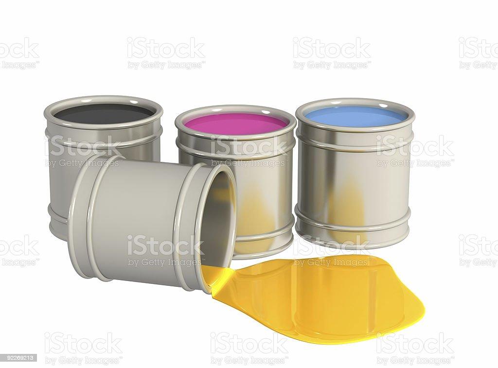 Conceptual image -  palette CMYK stock photo