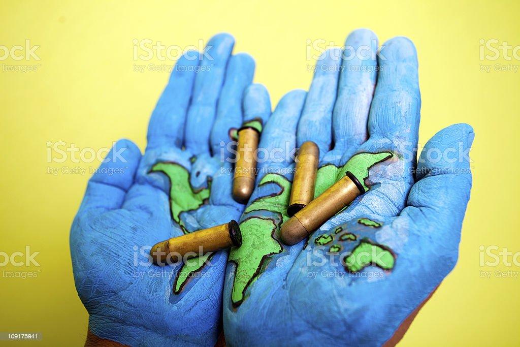 Conceptual Image showing International Terrorism, God Save the World stock photo