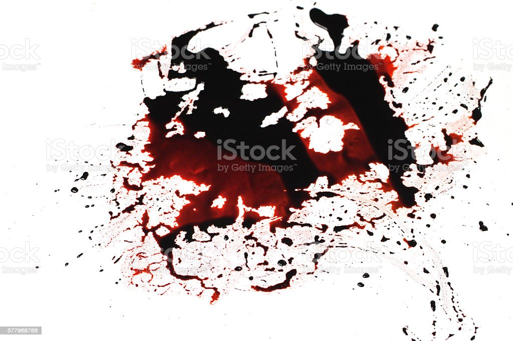 Conceptual image with blood on it resting on the floor stock photo