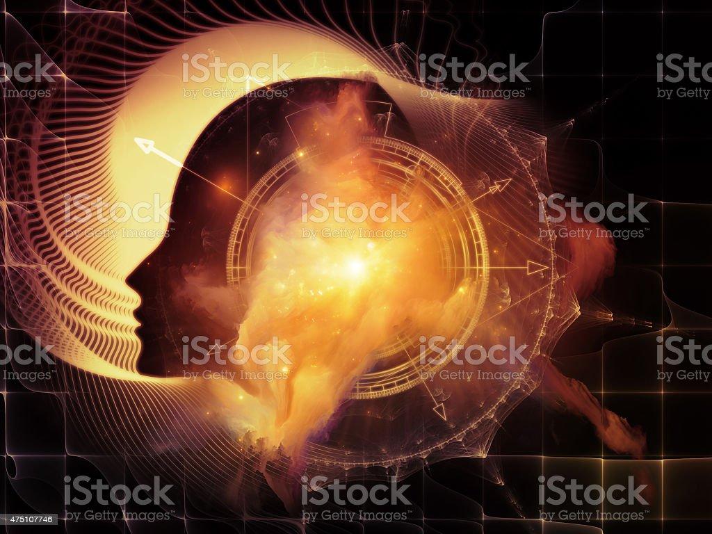 Conceptual Inner Geometry stock photo
