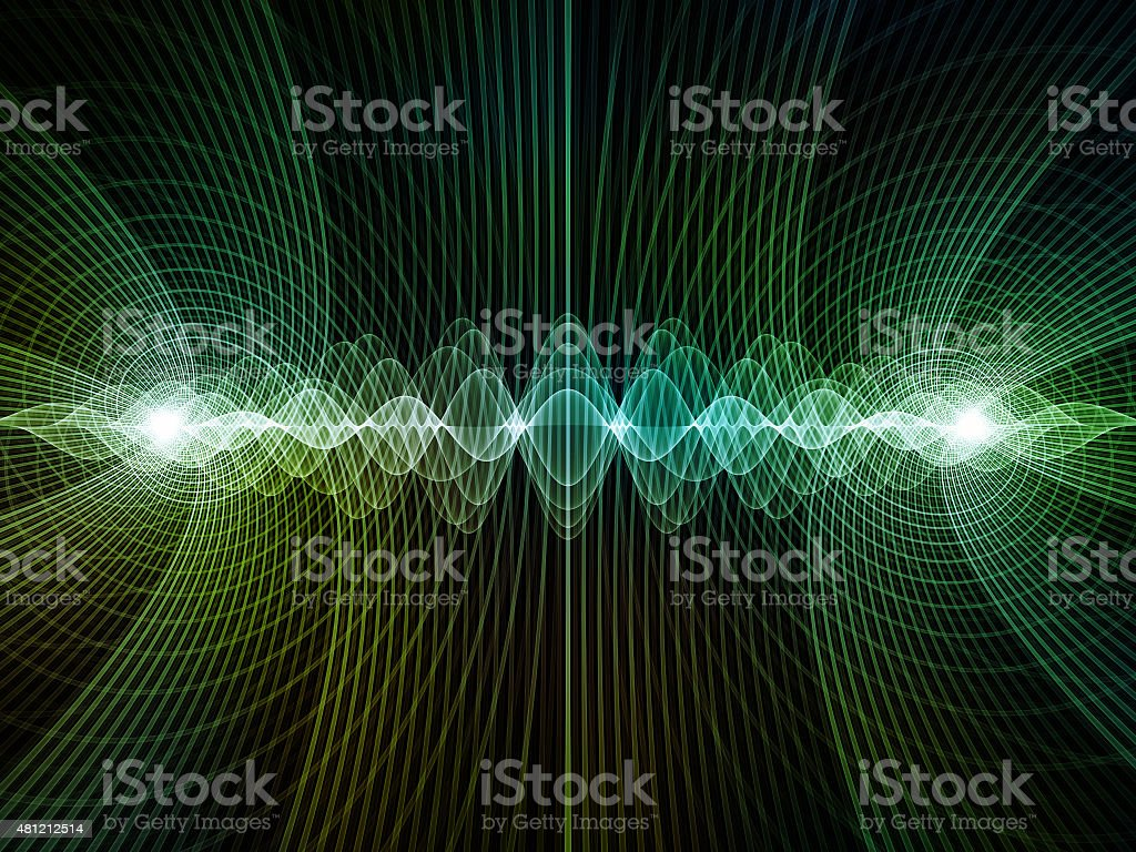 Conceptual Light Waves stock photo