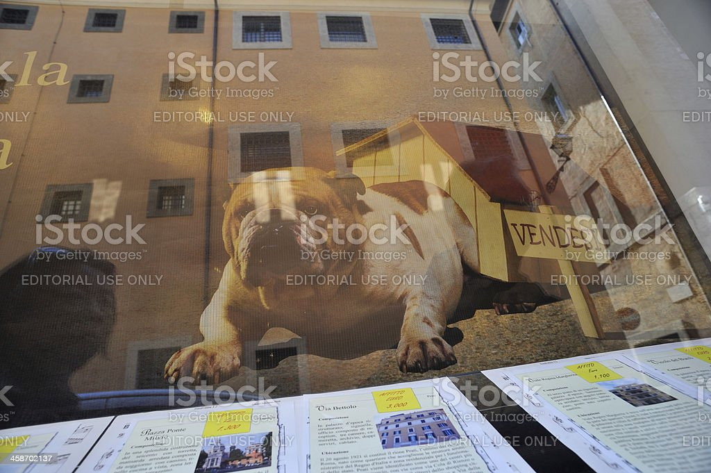 Conceptual metaphor of the European real estate market stock photo