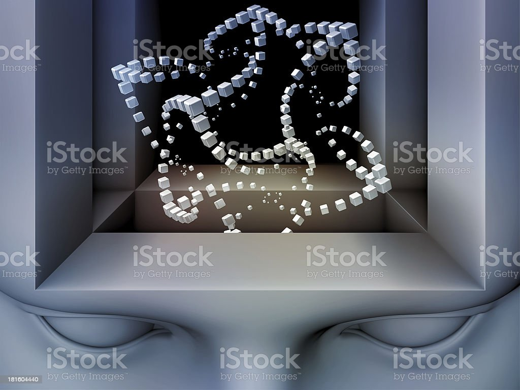 Conceptual Mind royalty-free stock photo