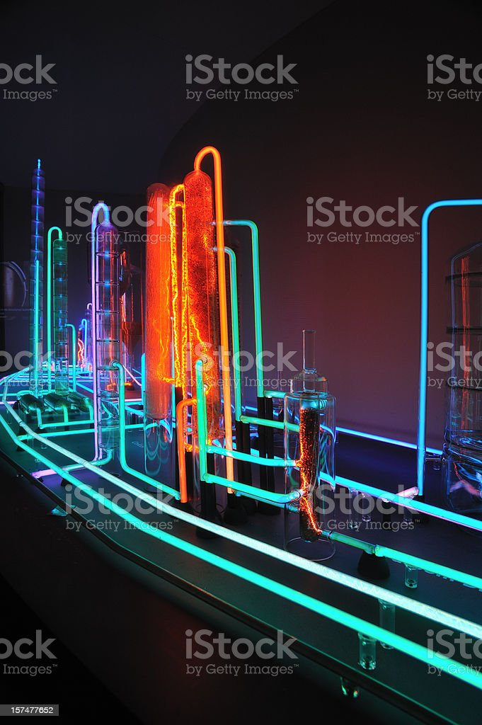 Conceptual oil refinery royalty-free stock photo