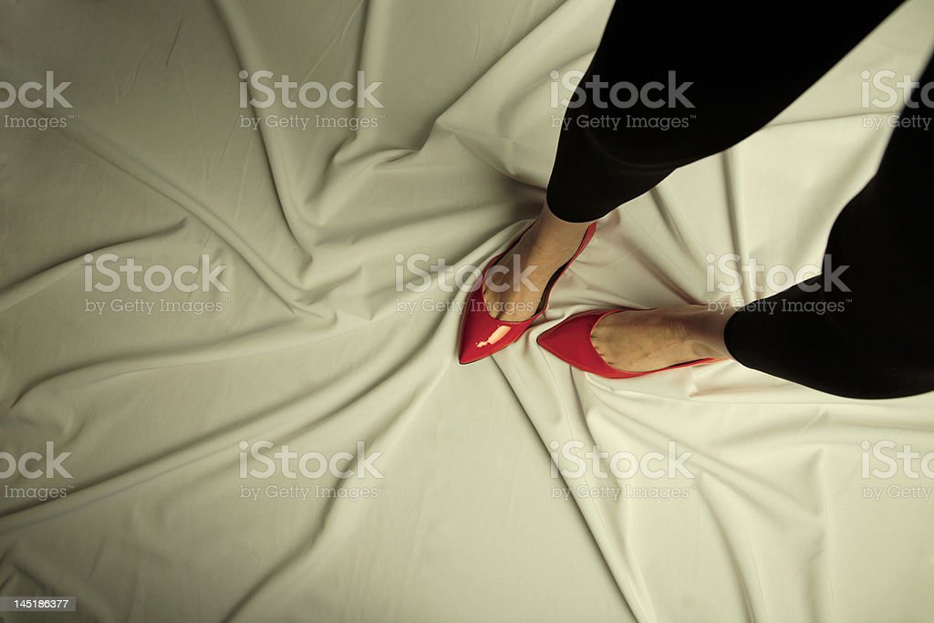 Conceptual photo advertising footwear royalty-free stock photo