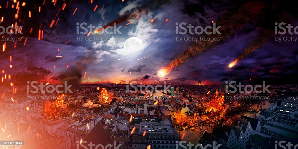 Conceptual photo of the apocalypse stock photo