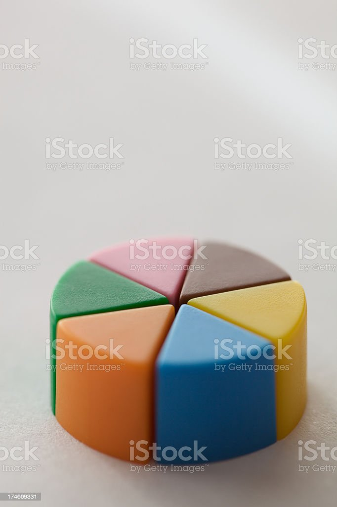 Conceptual picture of percentage royalty-free stock photo