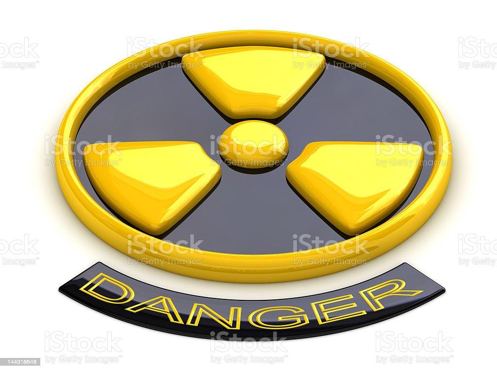 Conceptual radioactive sign stock photo