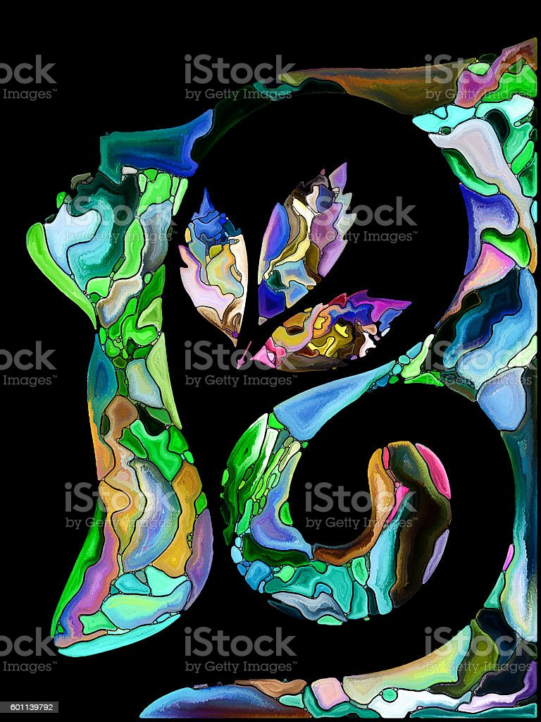 Conceptual Self Fragmentation stock photo