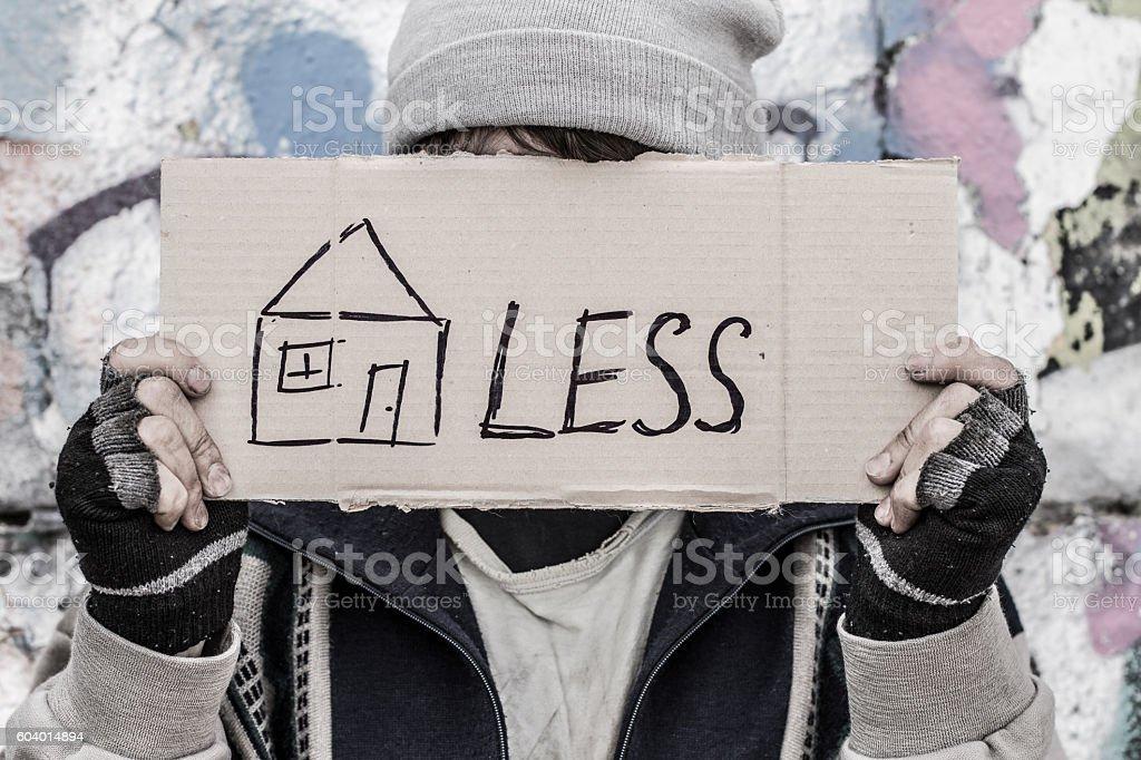 Conceptual shooting 'Homeless' stock photo