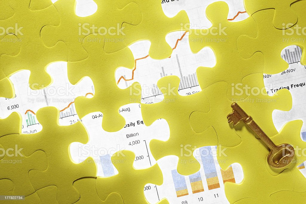 Conceptual shot with missing puzzle piece royalty-free stock photo