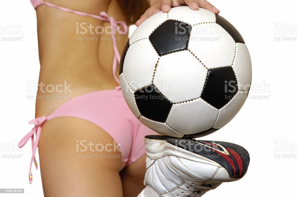 Conceptual soccer royalty-free stock photo