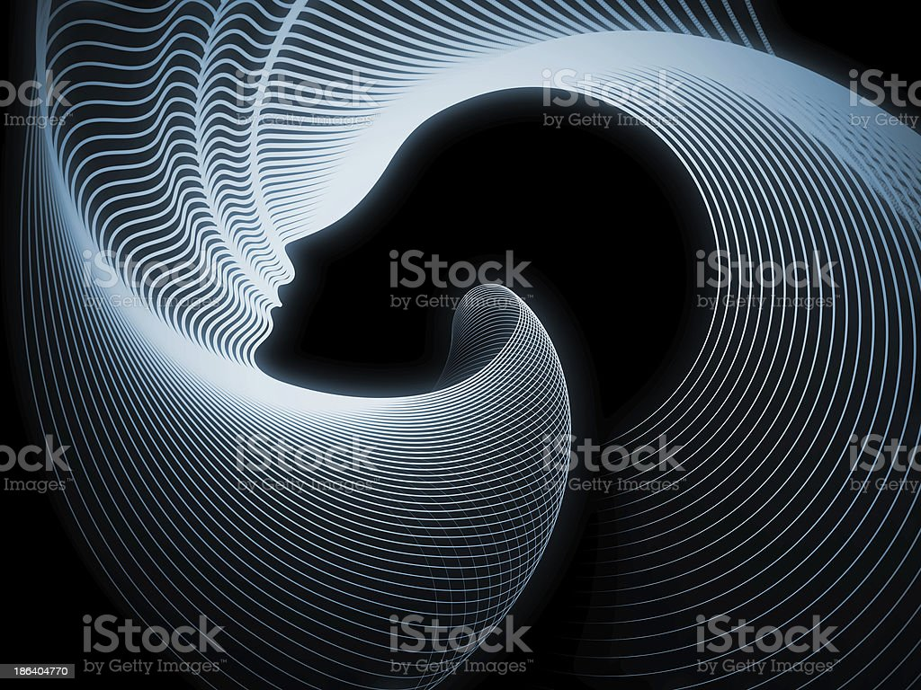 Conceptual Soul Geometry royalty-free stock photo