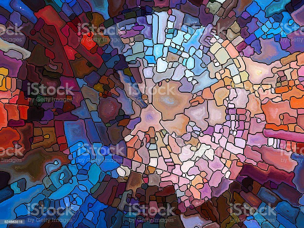 Conceptual Stained Glass stock photo