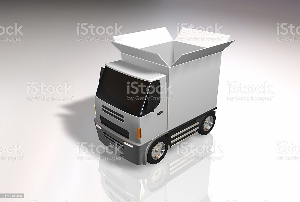 Conceptual Truck Pack royalty-free stock photo
